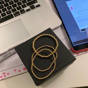 Gold-Filled Ball Bead Bracelets Bundle 14K Filled